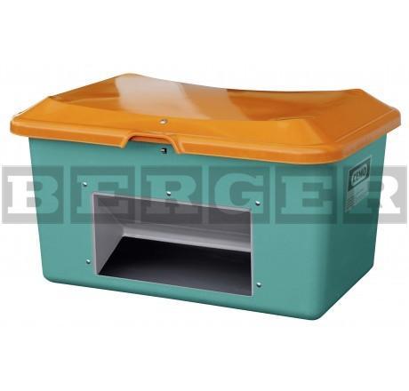 Streugutbehälter Plus3 grün-orange mit Entnahme ohne Staplertaschen