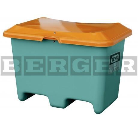 Streugutbehälter Plus3 grün-orange ohne Entnahme mit Staplertaschen
